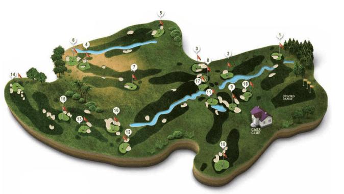 Mapa campo golf Bellavista