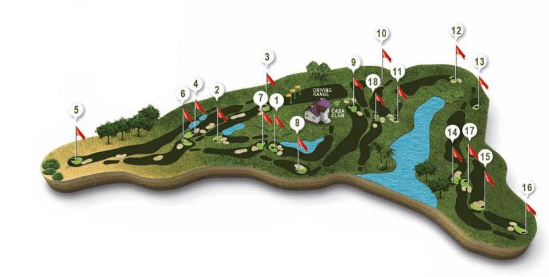 """Mapa recorrido campo de Golf El Rompido """"Sur"""""""