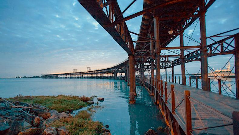 Muelle del Tinto en Huelva