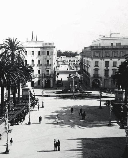 Plaza de las Monjas foto antigua