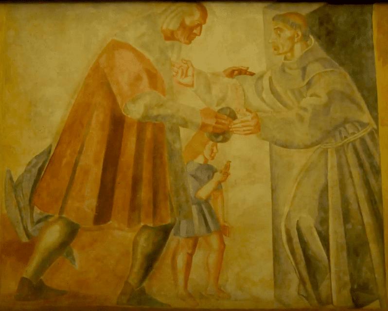 Pintura de Vazquez Díaz en el Monasterio de la Rábida