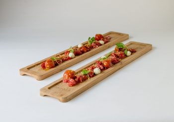 Presa Cinco Jotas madurada 21 días, Tomate y Grasa de Jamón de Bellota