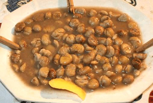 recetas de Huelva con castañas