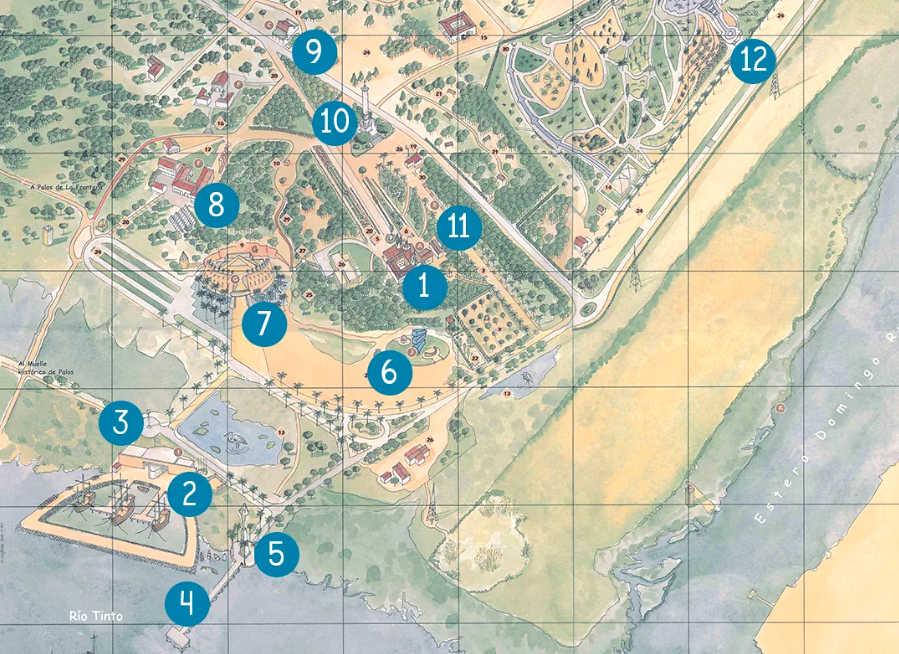 Mapa del Muelle de las Carabelas
