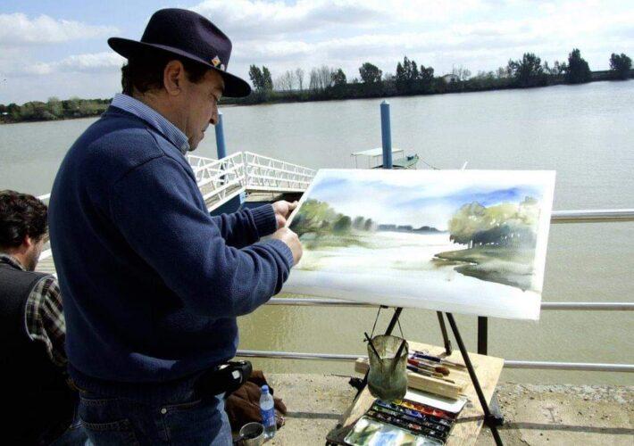 Manolo Blandon pintor Huelva